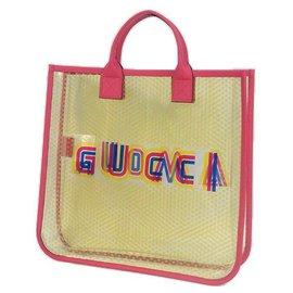 Gucci-Gucci AMOUR Star Star Sac cabas Femme 550763 rose x jaune-Rose,Jaune