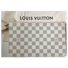 Louis Vuitton-Pochette for Neverfull GM Azur-Cream