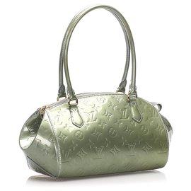 Louis Vuitton-Louis Vuitton Gray Vernis Sherwood PM-Grey