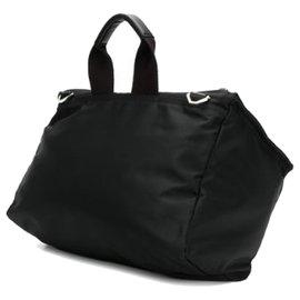 Givenchy-Givenchy Black Pandora Nylon Crossbody Bag-Black,White