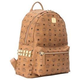 MCM-MCM Brown Medium Visetos Stark Backpack-Brown