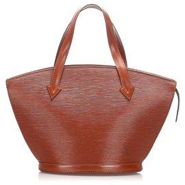 Louis Vuitton-Louis Vuitton Brown Epi Saint Jacques Short Strap PM-Brown