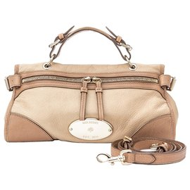Mulberry-Mulberry Brown Taylor Leather Satchel-Brown,Beige