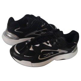 Dior-Baskets de survêtement Dior noires Dior Oblique-Noir,Blanc