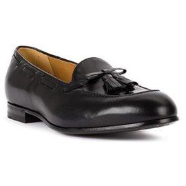 Gucci-Gucci Black Leather Tassel Loafers-Black