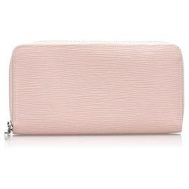 Louis Vuitton-Louis Vuitton Pink Epi Zippy Wallet-Pink,Other