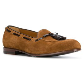 Gucci-Gucci Brown Leather Tassel Loafers-Brown,Black