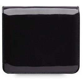 Fendi-Fendi Black Karligraphy Patent Leather Crossbody Bag-Black
