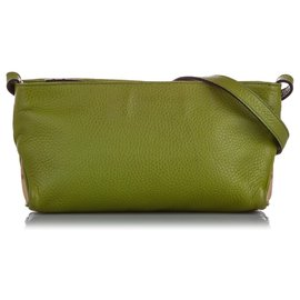 Burberry-Burberry Green Leather Crossbody Bag-Multiple colors,Green