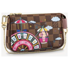 Louis Vuitton-LV mini pochette accessories-Brown