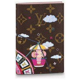 Louis Vuitton-LV passport cover new-Brown