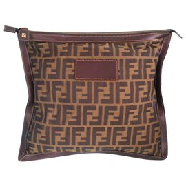 Fendi-Clutch bags-Brown