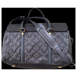 Louis Vuitton-Limited Edition Gris Monogram Volupte Psyche Bag-Blue