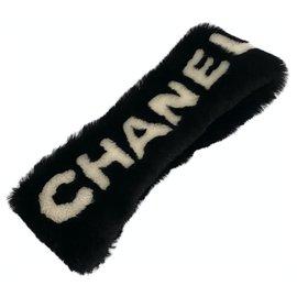 Chanel-Chanel black headband mouton-Black