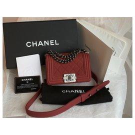 Chanel-W / carte, Coffret, dustbag Boy Limited Flap Bag-Rouge