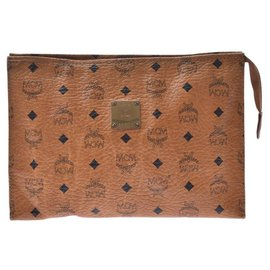 MCM-MCM Clutch Bag-Brown