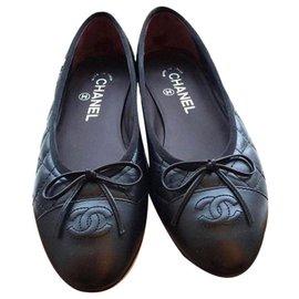 Chanel-CHANEL BALLERINA BLACK-Black