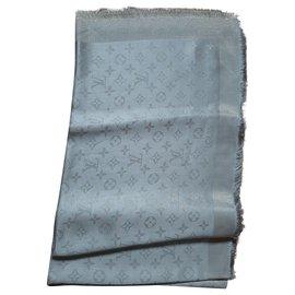 Louis Vuitton-Scialle Monogram shine-Gris