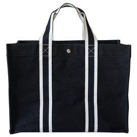 Hermès-Fourre-tout-Noir,Blanc