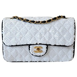 Chanel-Handbags-Black,White