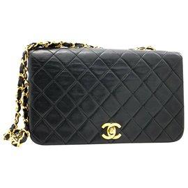 Chanel-Sac à rabat Chanel-Noir
