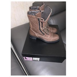 Chanel-Ankle Boots-Light brown