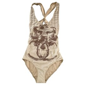 Chanel-Swimsuit-Light brown