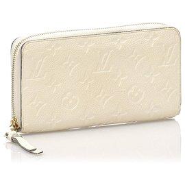Louis Vuitton-Louis Vuitton White Monogram Empreinte Zippy Wallet-White