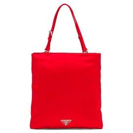 Prada-Prada Red Satin Handbag-Red,Multiple colors