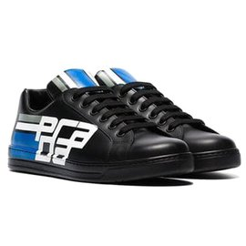 Prada-Baskets basses Prada Avenue noires-Noir,Blanc