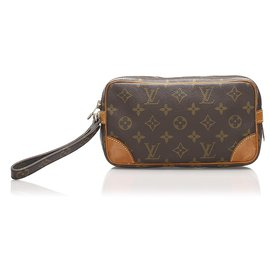 Louis Vuitton-Louis Vuitton Brown Monogram Marly Dragonne PM-Brown