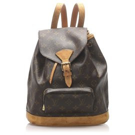 Louis Vuitton-Louis Vuitton Monogram Marron Montsouris MM-Marron