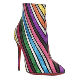 Christian Louboutin-Christian Louboutin Multi So Kate Booty 100 Suede Leather Boots-Multiple colors