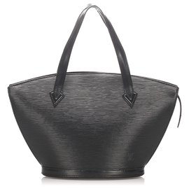 Louis Vuitton-Louis Vuitton Black Epi Saint Jacques PM Sangle Court-Noir