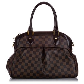 Louis Vuitton-Louis Vuitton Brown Damier Ebene Trevi PM-Marron