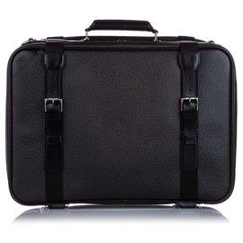 Louis Vuitton-Louis Vuitton Black Taiga Satellite 53-Black