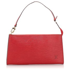 Louis Vuitton-Louis Vuitton Red Epi Pochette Accessoires-Rouge