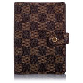 Louis Vuitton-Louis Vuitton Brown Damier Ebene Agenda PM-Brown