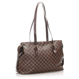 Louis Vuitton-Louis Vuitton Brown Damier Ebene Chelsea-Marron