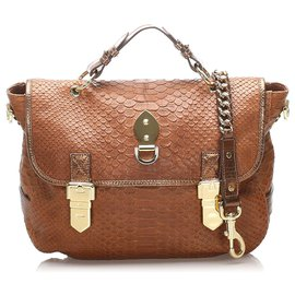 Mulberry-Mulberry Brown Tillie Embossed Leather Satchel-Brown