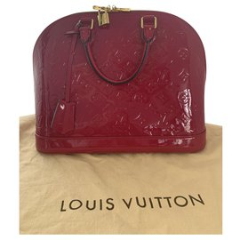 Louis Vuitton-Louis Vuitton alma vernis PM-Rose