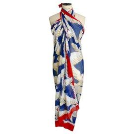 Hermès-HERMES Paréo « Les Mouettes »  Excellent état-Multicolore