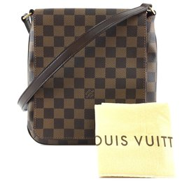 Louis Vuitton-Toile Louis Vuitton Musette Salsa PM Damier Ébène-Marron