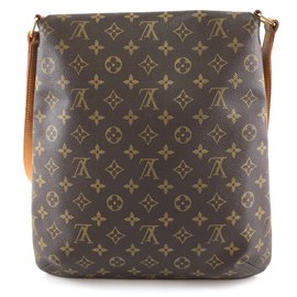 Louis Vuitton-Toile Monogram Louis Vuitton Musette Salsa GM-Marron