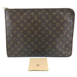 Louis Vuitton-Toile Monogram Louis Vuitton Porte-Documents GM-Marron