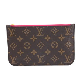 Louis Vuitton-Louis Vuitton Neverfull Pochette pour toile monogramme PM-Marron