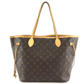 Louis Vuitton-Toile Monogram Louis Vuitton Neverfull MM-Marron