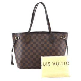 Louis Vuitton-Toile Louis Vuitton Neo Neverfull PM Damier Ébène-Marron