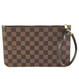 Louis Vuitton-Louis Vuitton Neverfull Pochette Damier Ébène Canvas-Brown