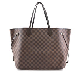 Louis Vuitton-Toile Louis Vuitton Neverfull GM Damier Ébène-Marron